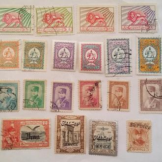 Иран 1902 - 35 гг ( подборка 20 шт 45 Еу )