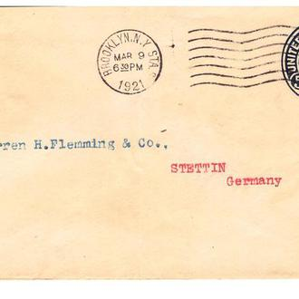 США 1921 Г - БРУКЛИН/ЩЕЦИН (ГЕРМАНИЯ )