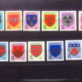 Джерсей 1981 стандарты гербы геральдика 2,5 евро**