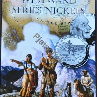 Альбом 5 центов США Льюис и Кларк путешествие Льюиса и Кларка на Запад и покупка Луизианы 2 двора