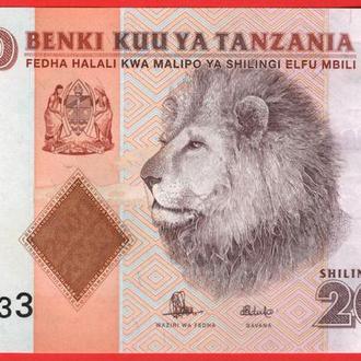 2000 Шиллингов 2011,(2,6) Танзания UNC