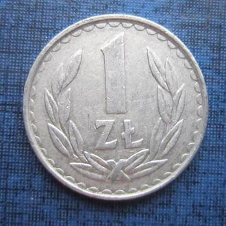 монета 1 злотый Польша 1985