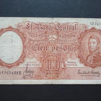 CIEN PESOS 1967-69 r.