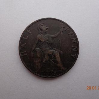 Великобритания 1/2 пенни 1903 Edward VII состояние очень редкая