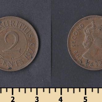 Маврикий 2 цента 1975