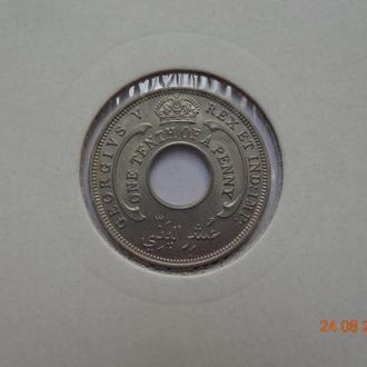 Британская Западная Африка 1/10 пенни 1936 George V СУПЕР состояние очень редкая