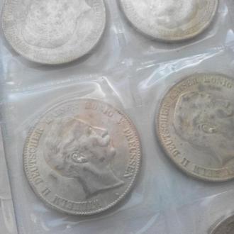 Германская империя 5 марок, 1907 13 монет