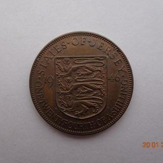 Джерси 1/24 шиллинга 1946 George VI СУПЕР состояние очень редкая