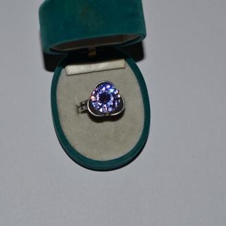 старинное кольцо серебро 85 проба иностранная проба камень винтаж вес 5,87 грамм