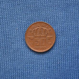 Бельгия 50 сантимов 1958 г