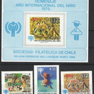 Чили - год детей 1979 - Michel Nr. 913-915, Bl. 915 **