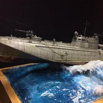 Масштабная модель катера Г-5