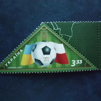 """УКРАИНА. 2007. Назустріч """"Євро 2012"""". Футбол. MNH"""