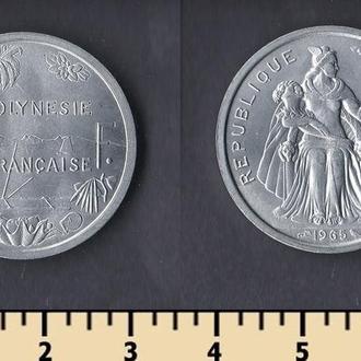 ФРАНЦУЗСКАЯ ПОЛИНЕЗИЯ 2 ФРАНКА 1965