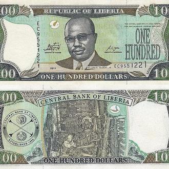 Либерия - 100 долларов 2008 UNC