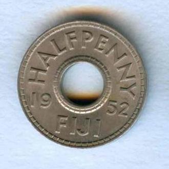 Фиджи 1/2 пенни 1952 Тип 4 Нечищенная