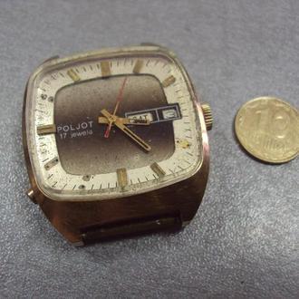 часы наручные циферблат механизм полет автоподзавод на ходу позолота Ау10 №9