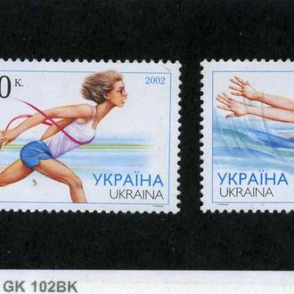 Україна, Легкая атлетика. Плавания. 2002 рік **.