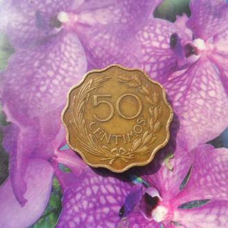 Парагвай 50центимос 1953г