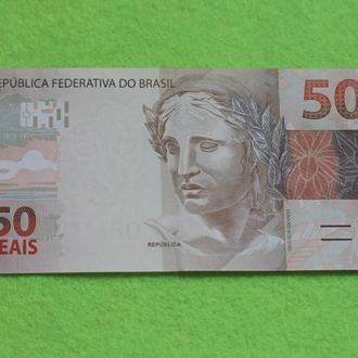 Бразилия 50 реалов UNC