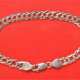 Браслет цепочка серебро 925 пр. длина 17,5 см. 5,64 гр.