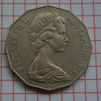 Австралия 50 центов, 1975