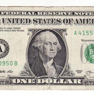 1 доллар США 2013 A Бостон Массачусетс.