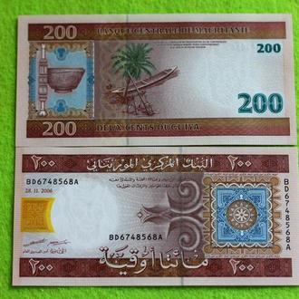 Мавритания 200 угия 2006   UNС