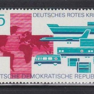 ГДР 1972 красный крест