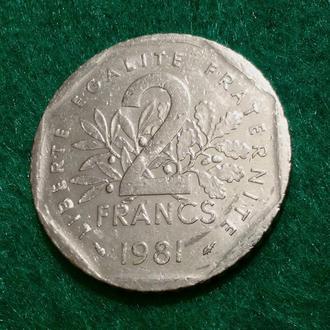 Франция 2 франка 1981 (1)
