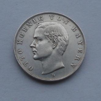 1911 г - 3 марки Германия,Бавария,Отто,серебро