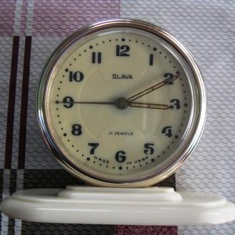 Часы Будильник Слава 11 камней Экспортная модель СССР