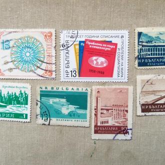 марки- с 1 гр Болгария--(А3) -  гашеніе- 7 марок