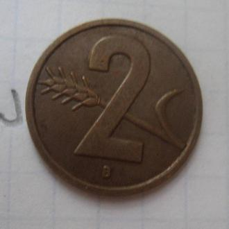 ШВЕЙЦАРИЯ, 2 раппена 1951 г.