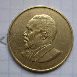 КЕНИЯ, 5 центов 1968 года (ПОРТРЕТ БЕЗ НАДПИСИ).