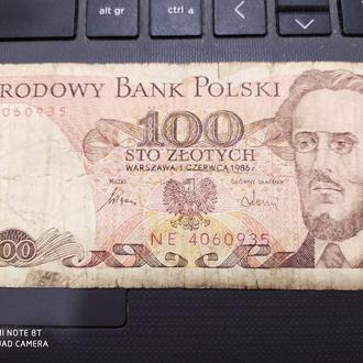Банкнота Польша 1986 год 100 злотых