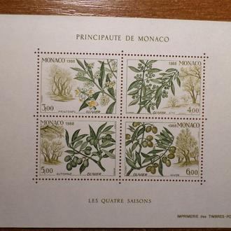 Монако флора 1988 КЦ-14евро