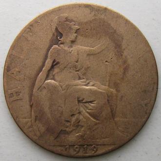 Великобритания 1 пенни 1919 год Георг V