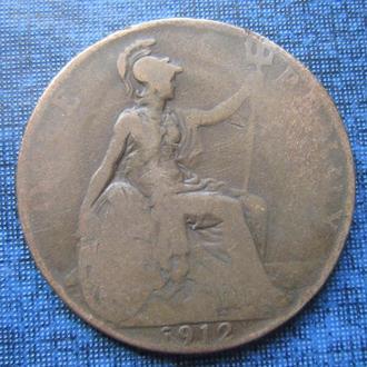 Монета 1 пенни Великобритания 1912 Георг V