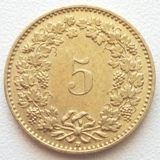 Швейцария 5 раппен, 2008