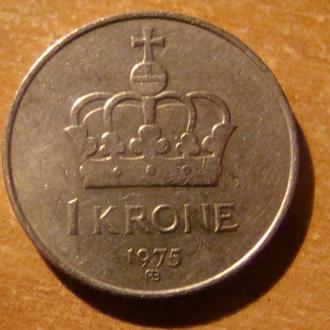 Норвегия 1 крона 1975