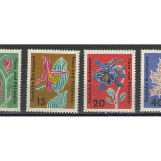 Германия ФРГ 1963 ** Флора Цветы серия MNH