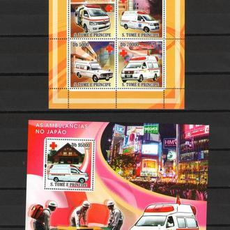 С.Томе 2008 ** Транспорт Автомобили Скорая Япония БЛ+МЛ MNH