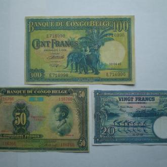 Бельгийское Конго 1947г- 1952г. (Репринты).