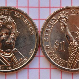 1 доллар 9-й президент США Уильям Генри Гаррисон 2009 г