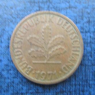 монета 2 пфеннига 1971 D