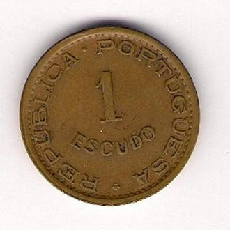 1 эскудо 1974 г., Ангола.