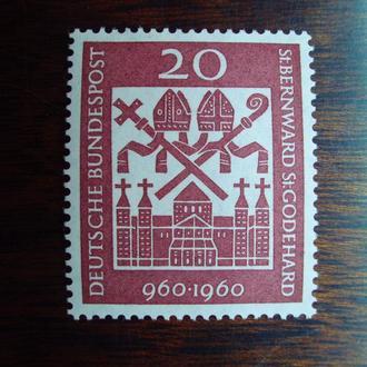 ФРГ.1960г. Символы религии. Полная серия. MNH