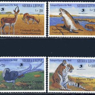 Сьерра-Леоне. Животные (концовка) ** 1989 г.