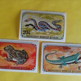 Марки Монголия, фауна